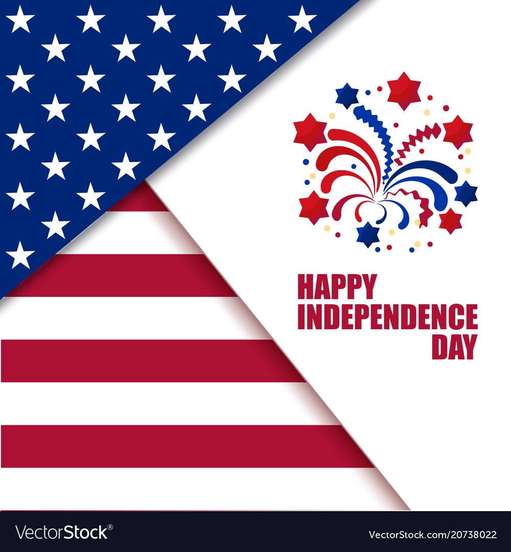 Independence day celebration vector image