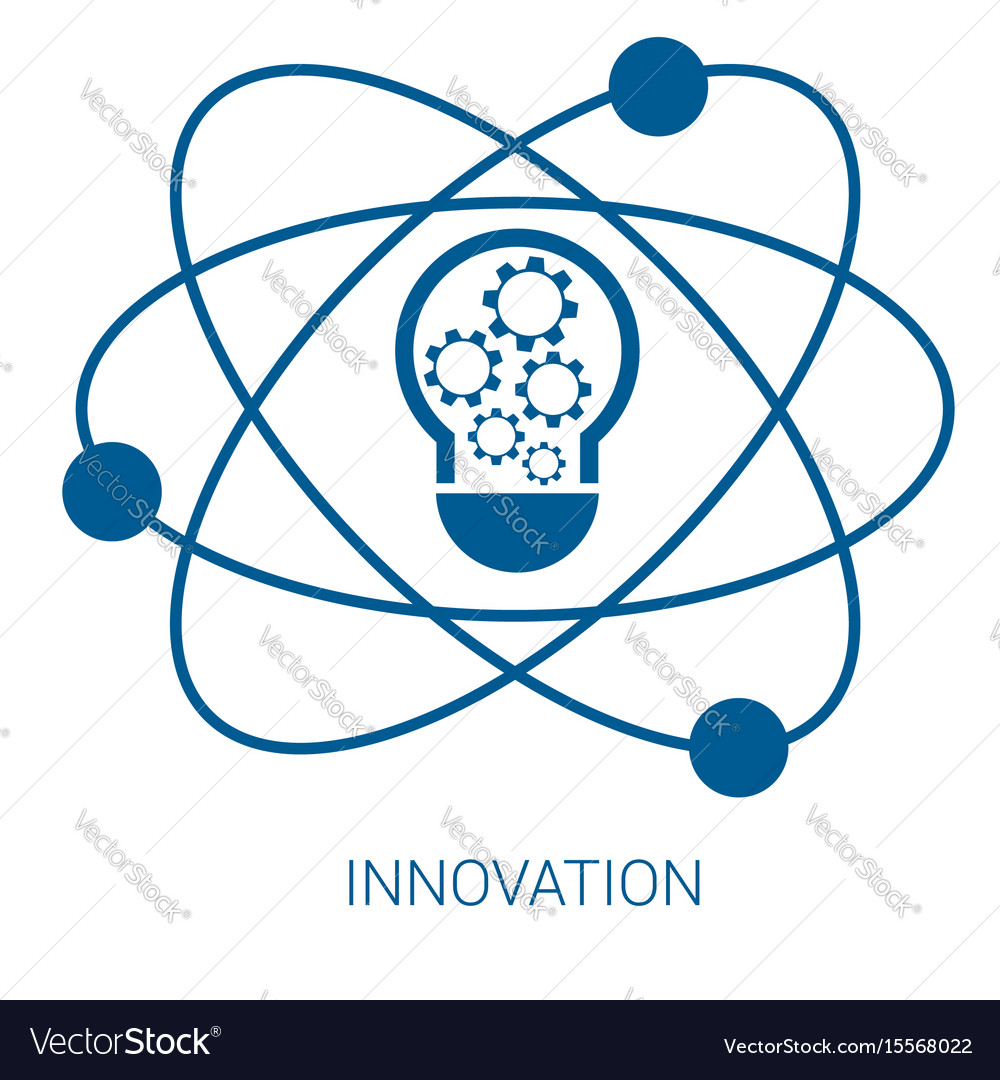 Innovation blue flat icon
