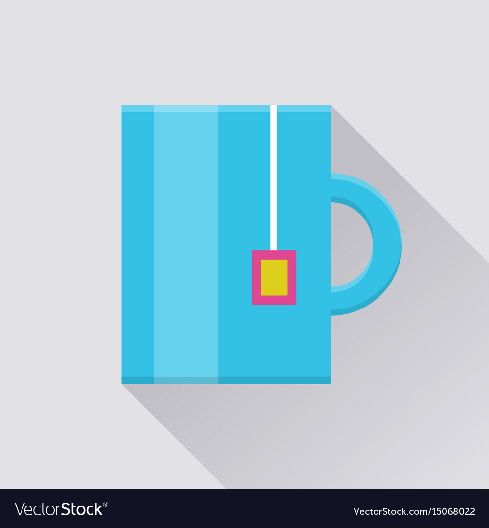 Mug with tea bag pocket icon