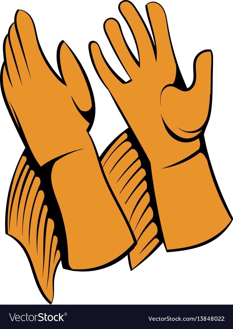 Rancher gloves icon icon cartoon