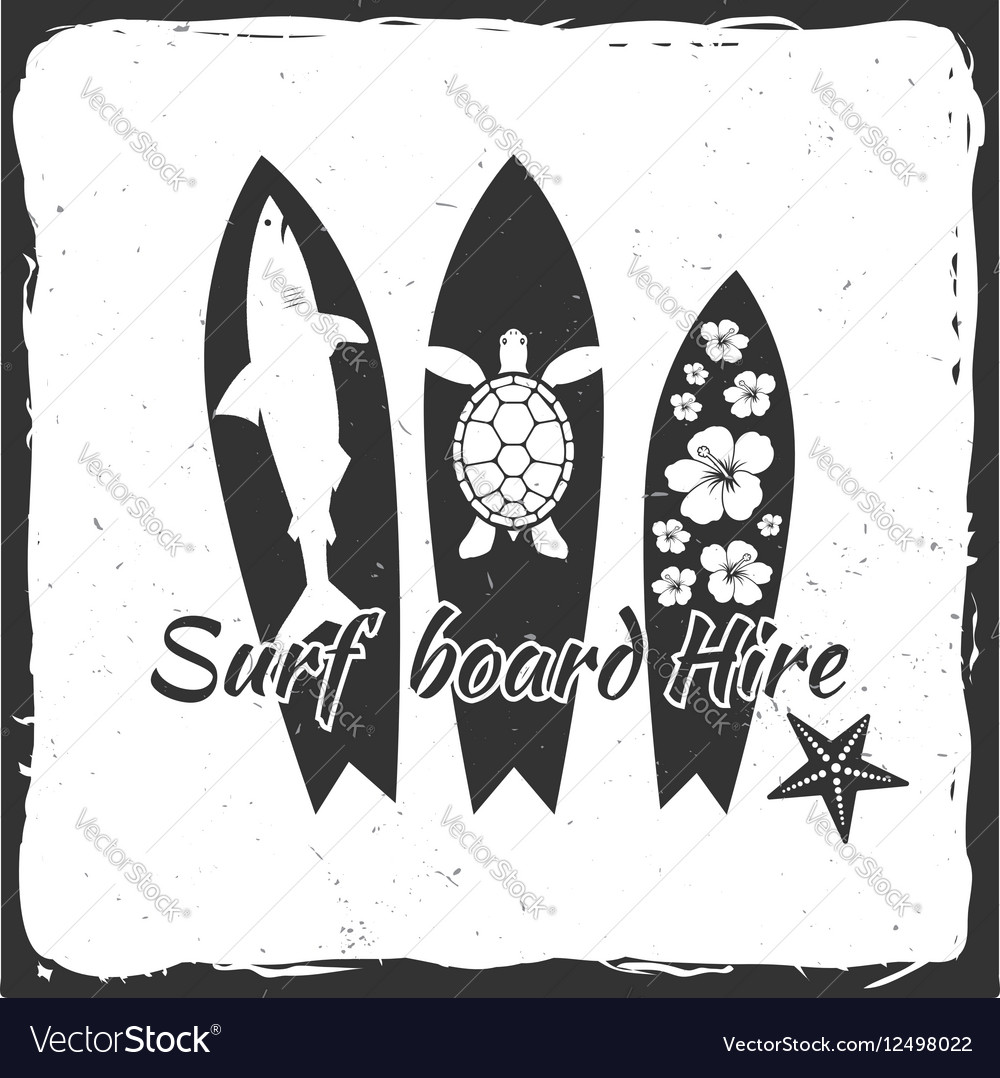 Surf board hire concept