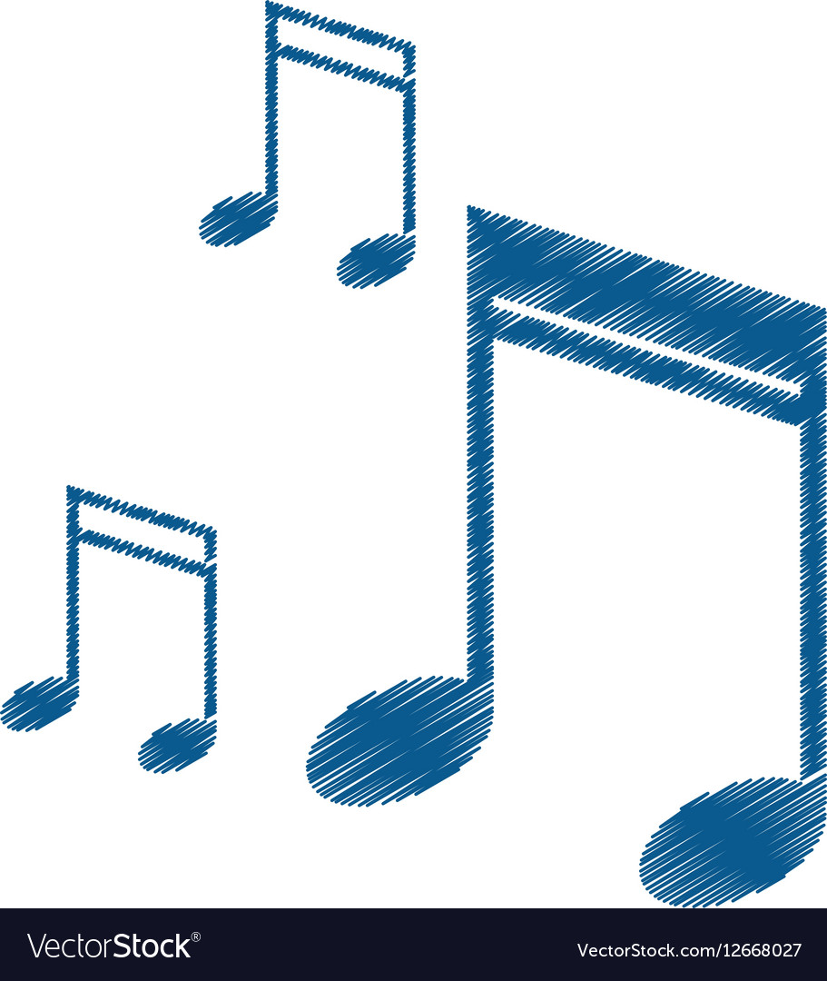 Drawing note music audio sound