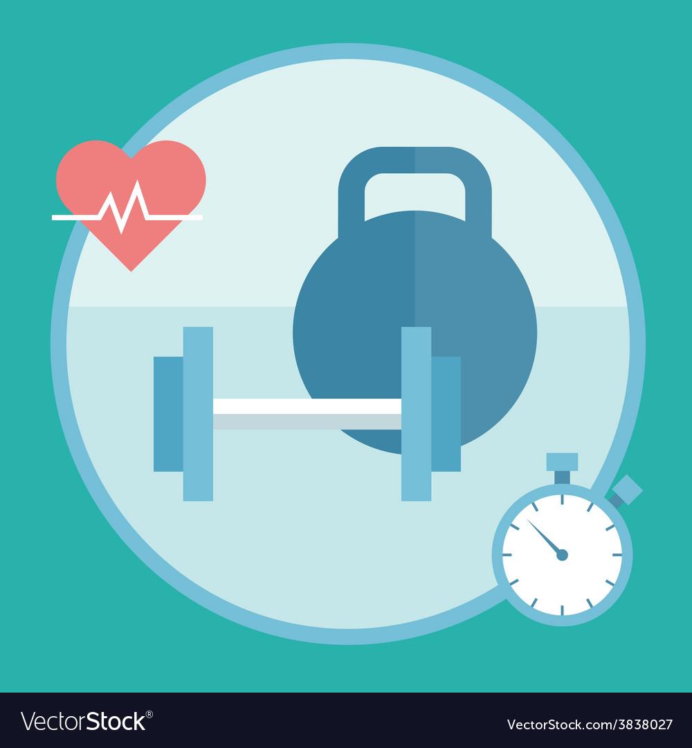 Isolated bodybuilding fitnes s icons set