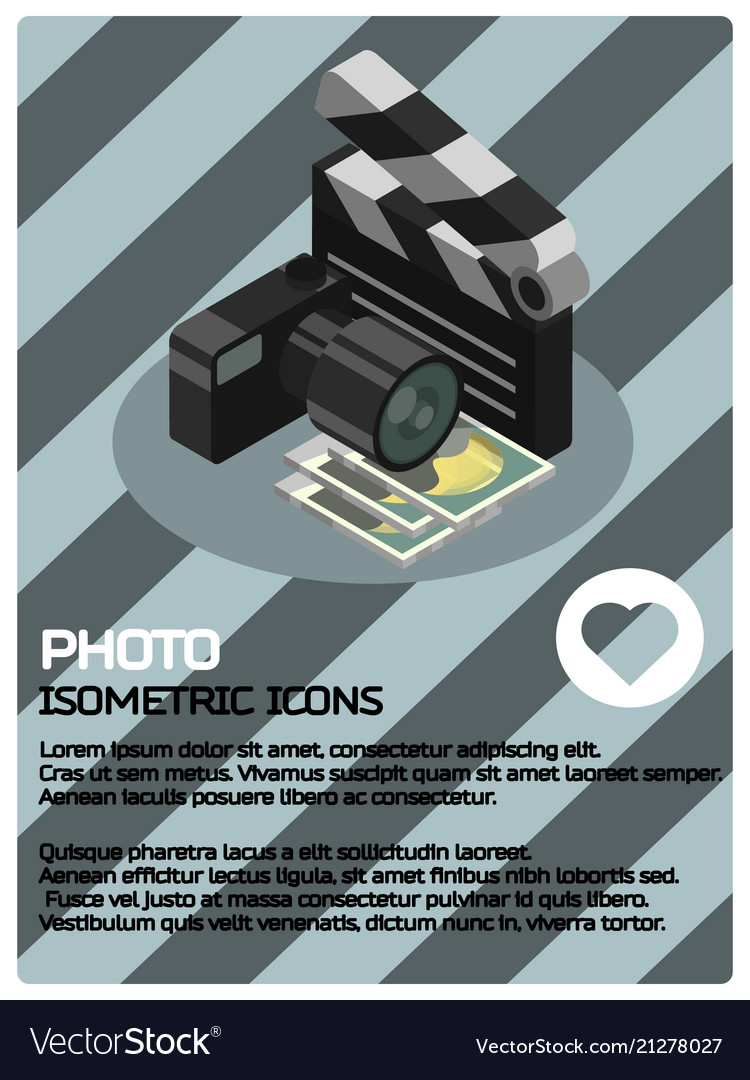 Photo color isometric poster