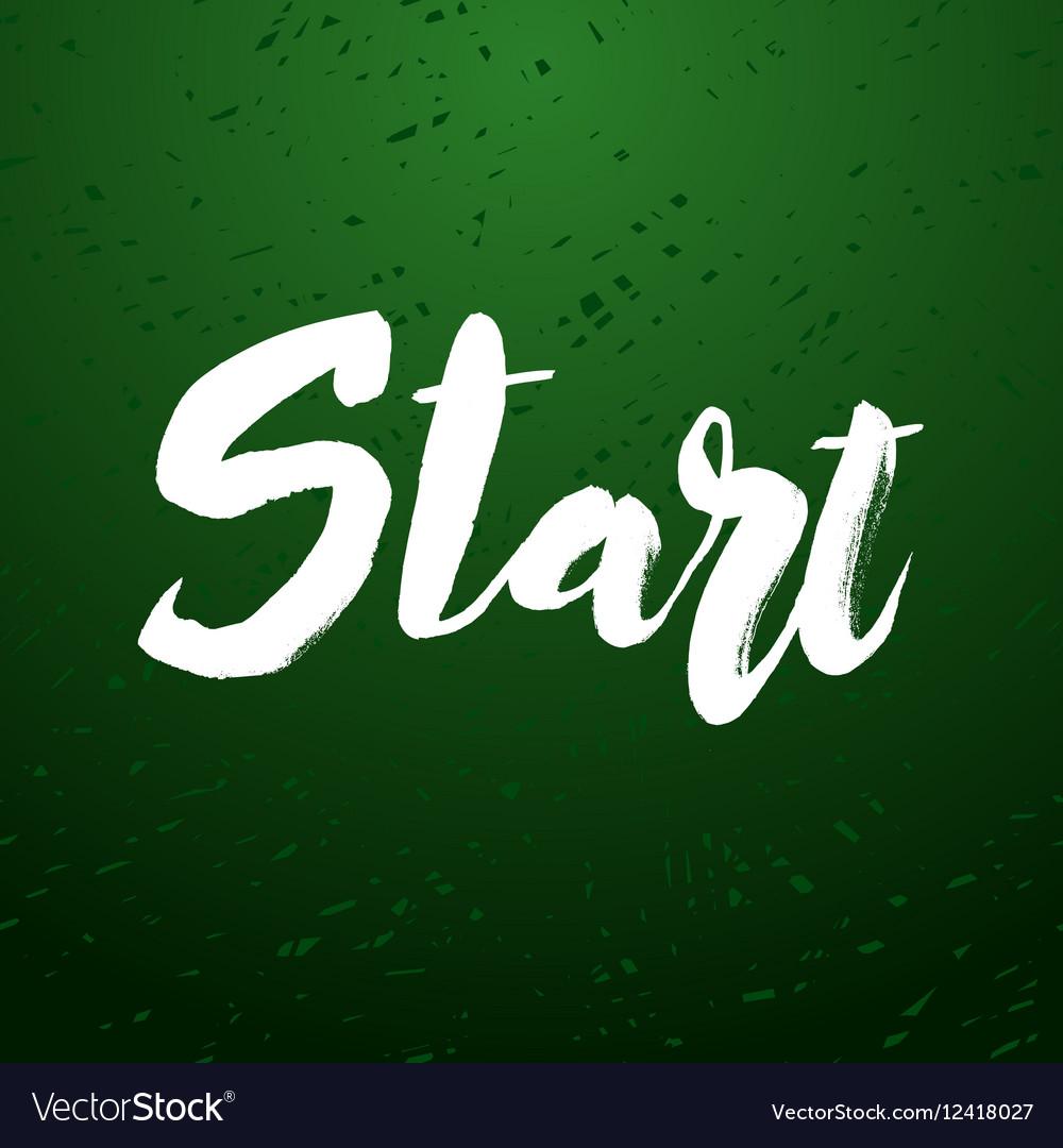 Start lettering design