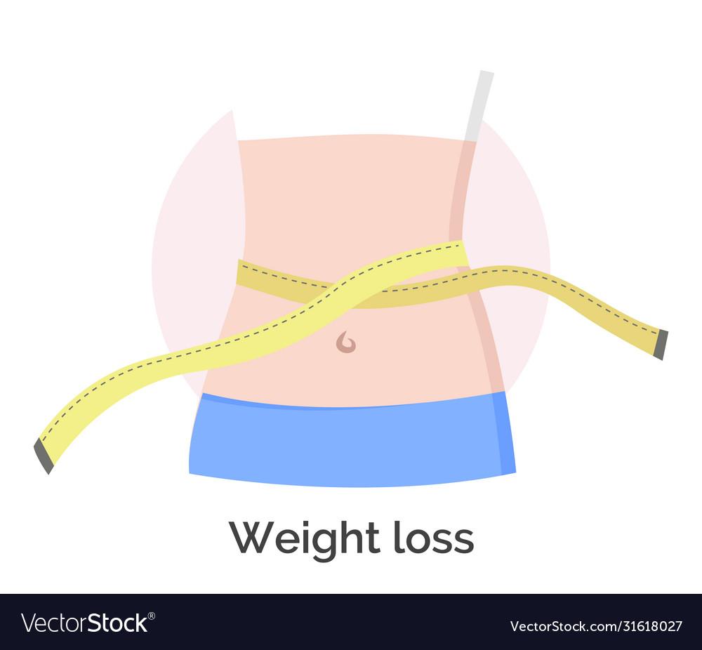 Weight loss measuring waist woman waistline