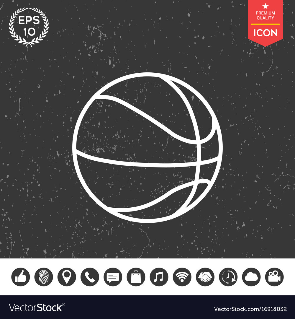 Basketball ball line icon