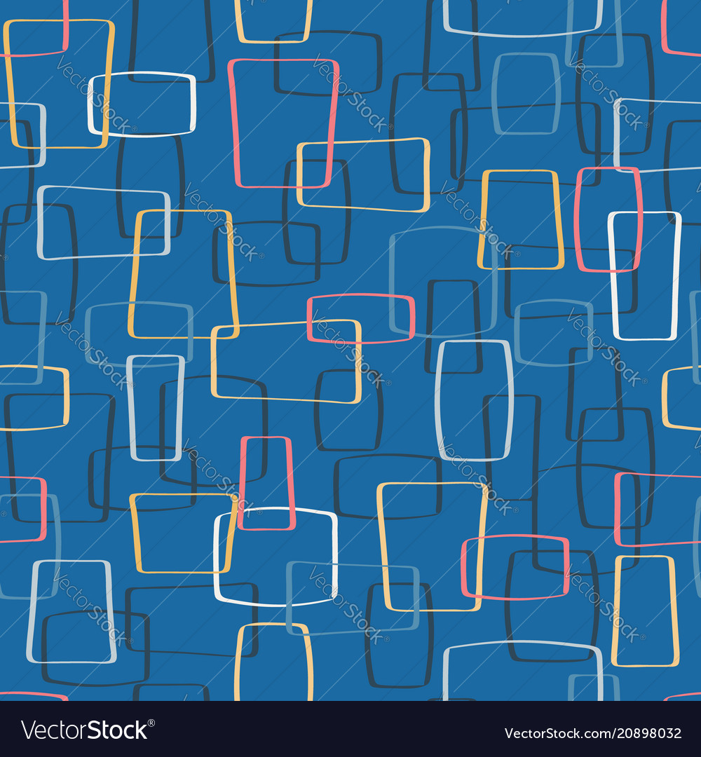Colorful mod shapes seamless pattern