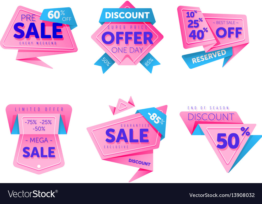 Discount tag with special offer sale sticker