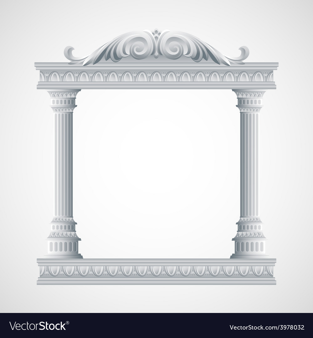 Portico an ancient temple Colonnade vector image