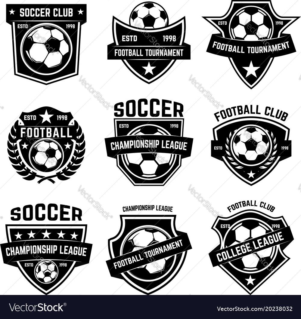 Set soccer football emblems design element