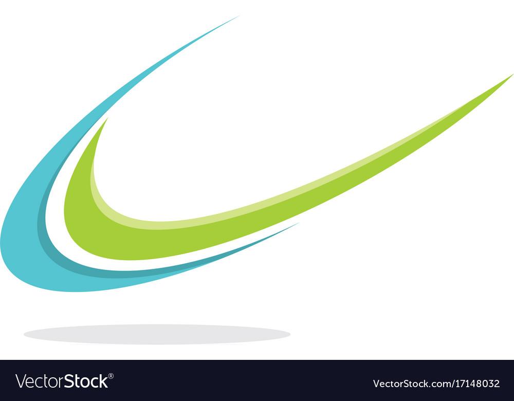 Swoosh unique logo vector image