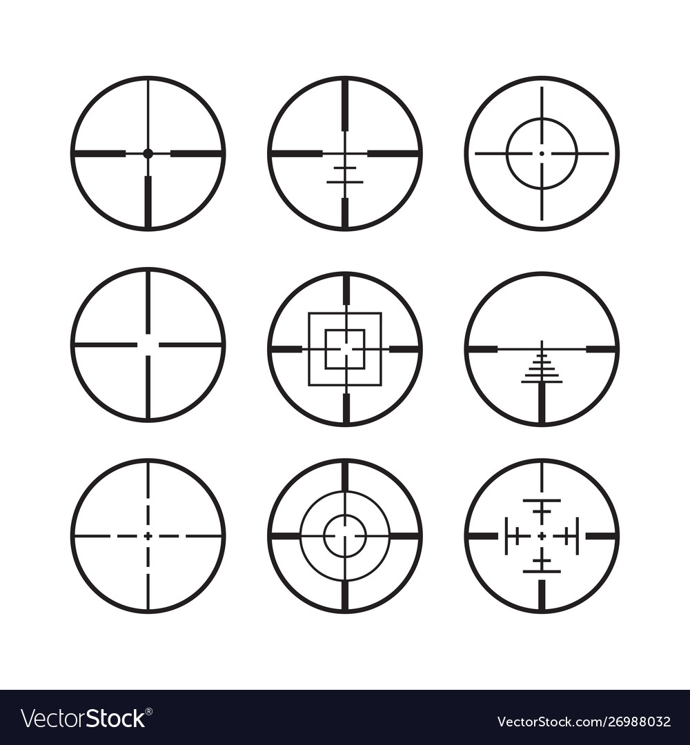 Targets and destination military icon set symbol