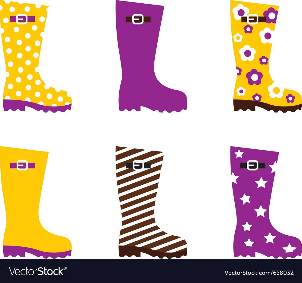 Wellington boots vector image