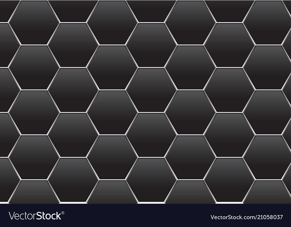 Abstract dark gray hexagon silver line mesh