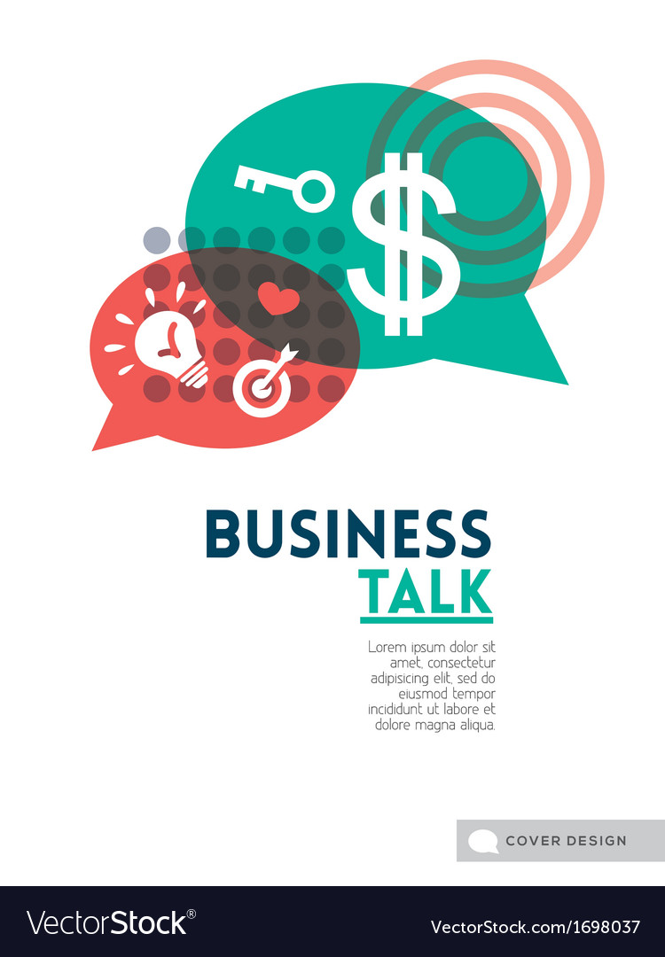 Business talk bubble speech concept vector image
