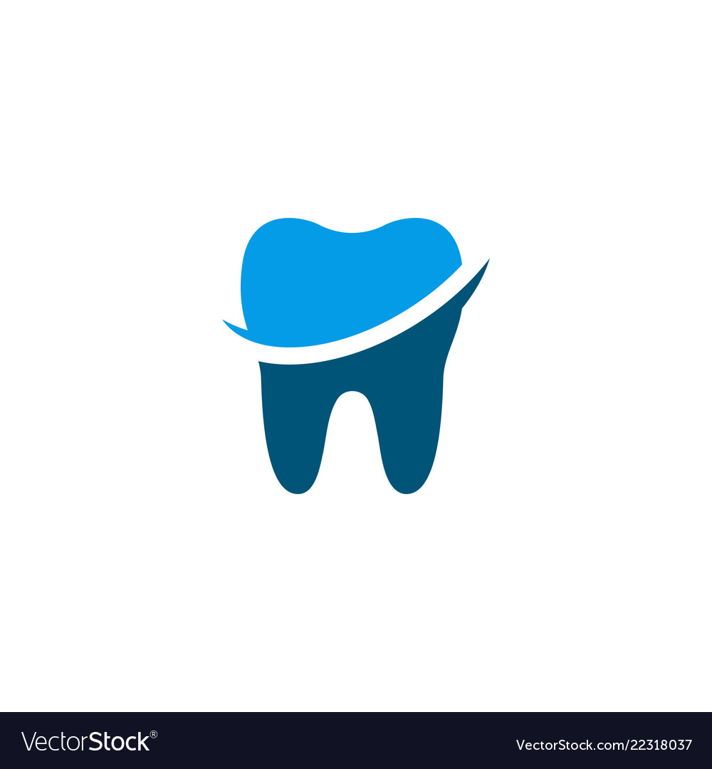 Clean Dental Tooth Logo Design Template Royalty Free Vector
