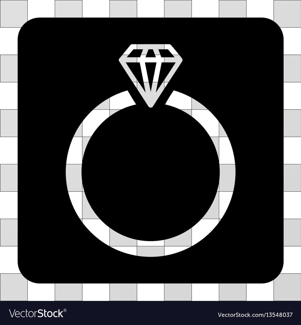 Diamond ring rounded square