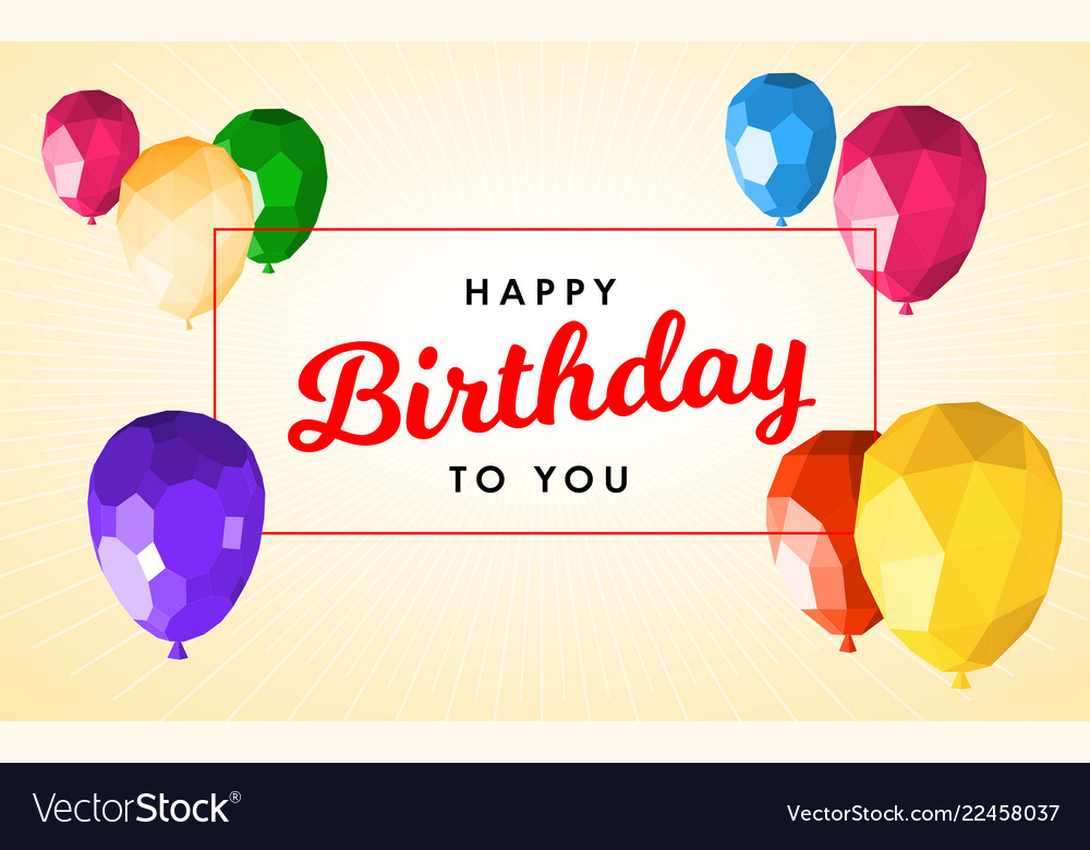 Happy Birthday Greeting Card Template