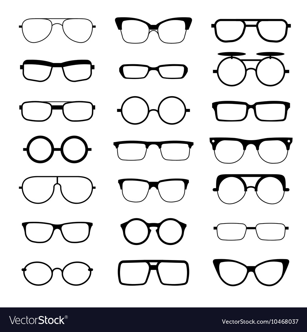 newest collection hot sale online discount Sunglasses eyeglasses geek glasses different Vector Image