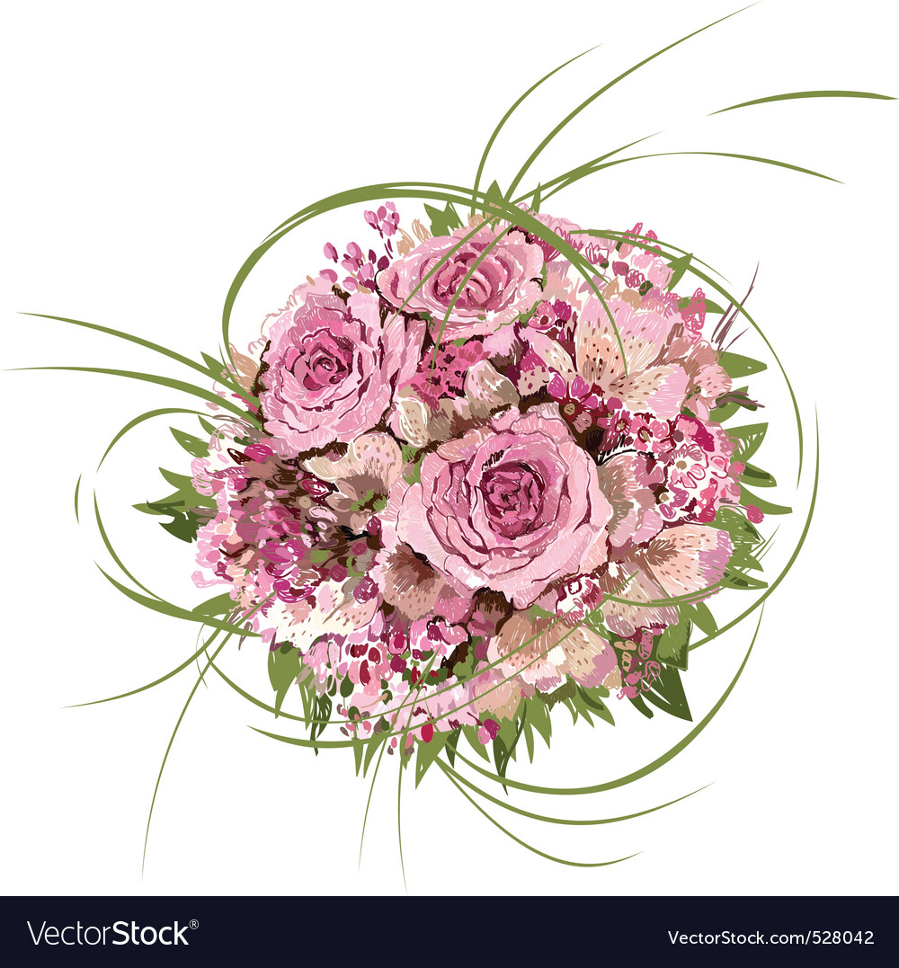 Bouquet of roses hand drawing royalty free vector image bouquet of roses hand drawing vector image izmirmasajfo