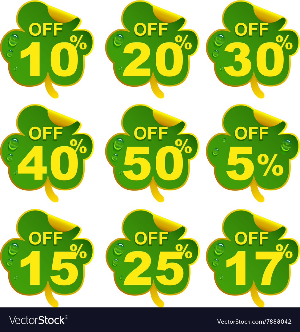 Discount sale leaf clover 17 percent offer in St