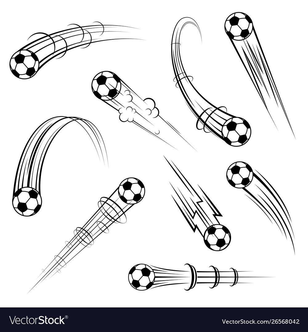 Football outline movement symbols set
