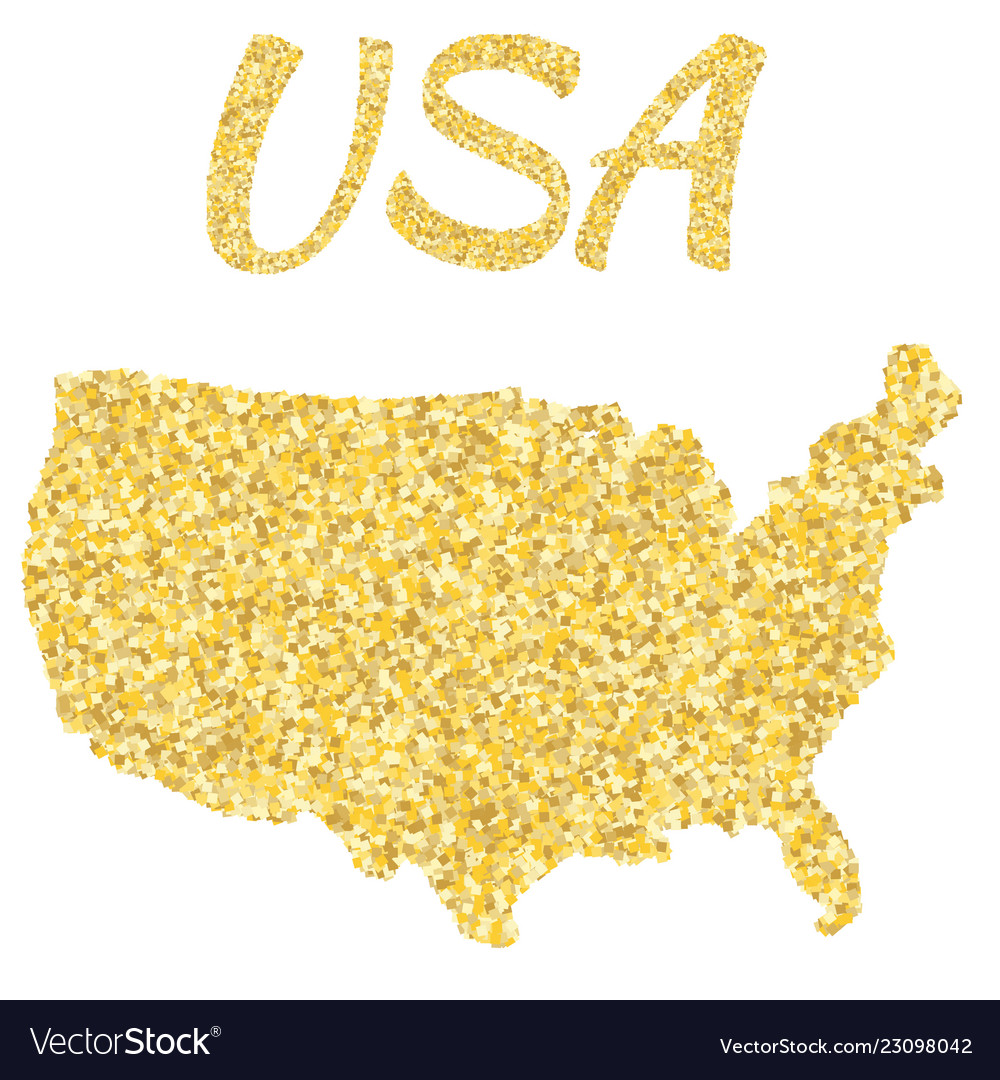 Map of usa in golden with gold yellow particles Gold Map Usa on usa debt map, usa fire map, usa coast map, usa halite map, usa red map, usa mountains map, usa area code list, usa statehood map, usa shadow map, usa grey map, usa neon map, usa land map, usa grid map, usa glaciers map, usa light map, usa blank map united states, usa map with cities and states detailed, usa copper map, usa white map, usa night map,