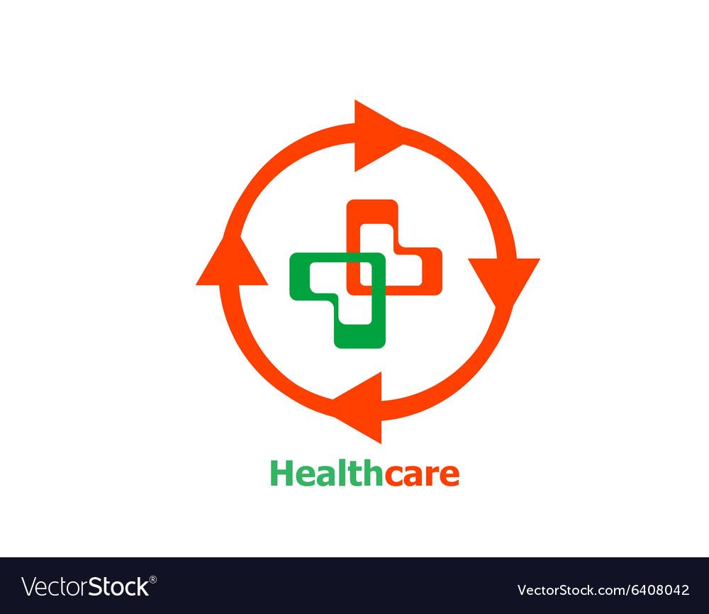 Medical cross abstract Logo design
