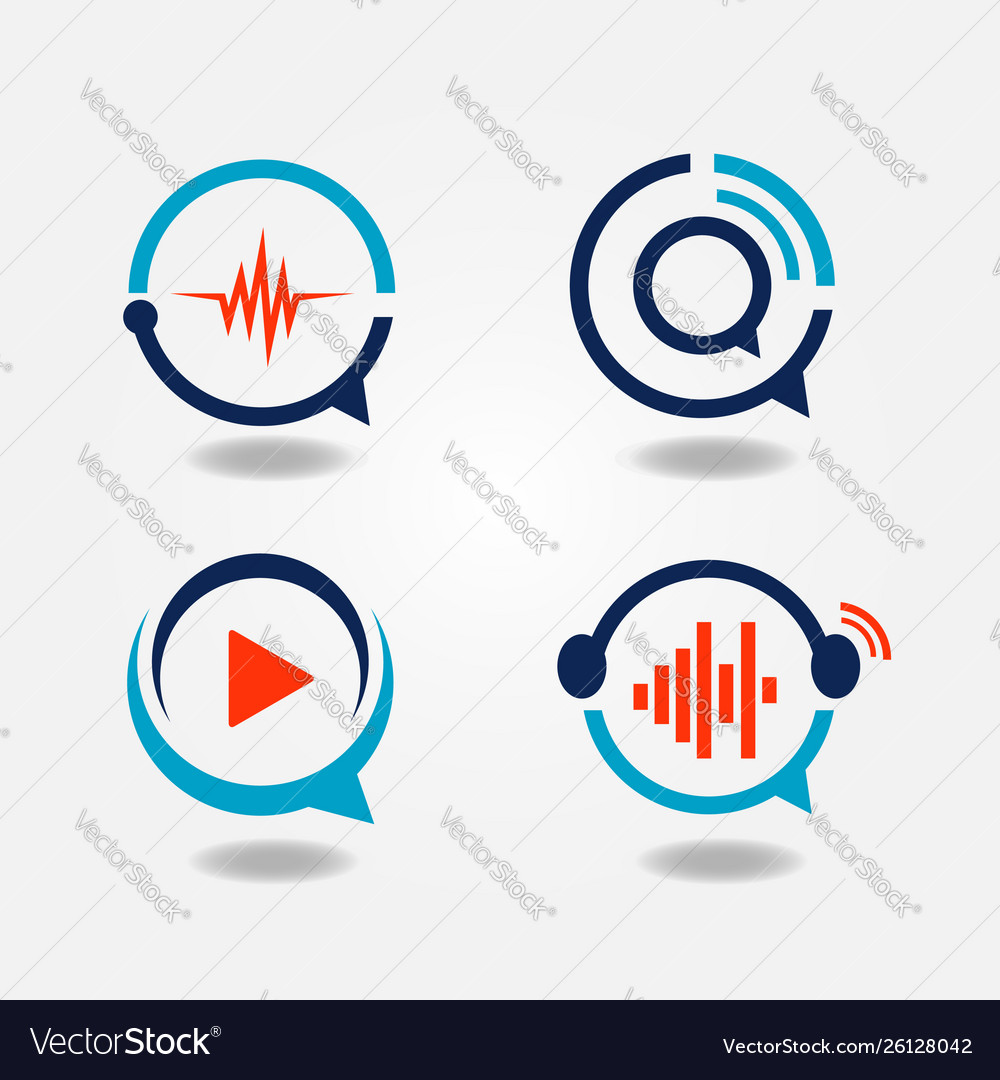 Multimedia bubble speech logo sign symbol icon