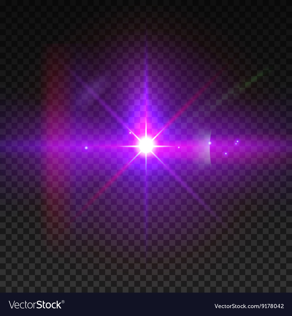 Realistic sun burst with flare Lens flare