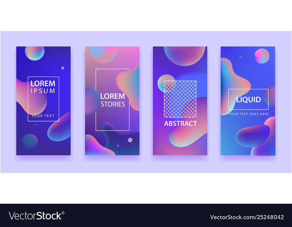 Set abstract mobile app template with
