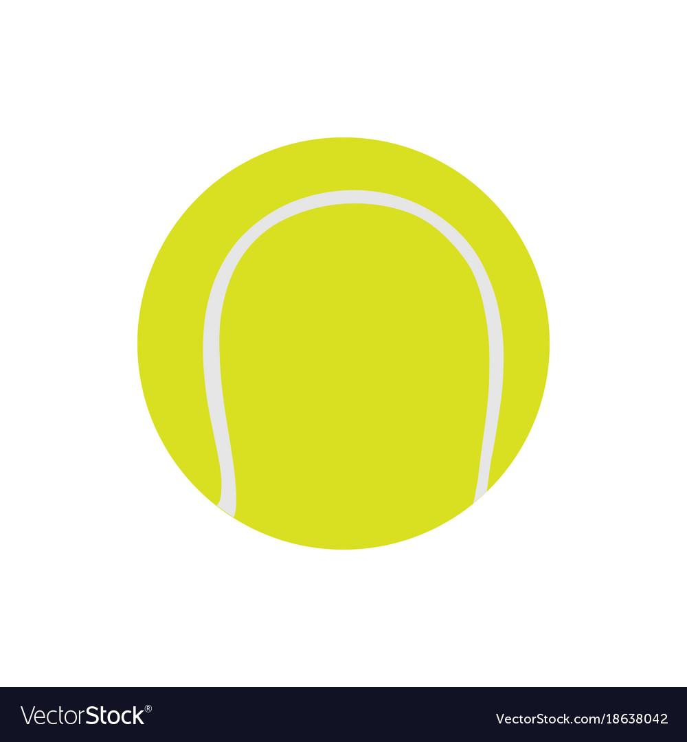 Tennis ball isolated on white icon