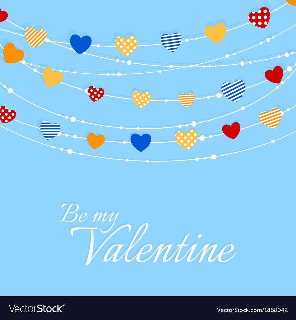 Valentine background with joyful heart bunting