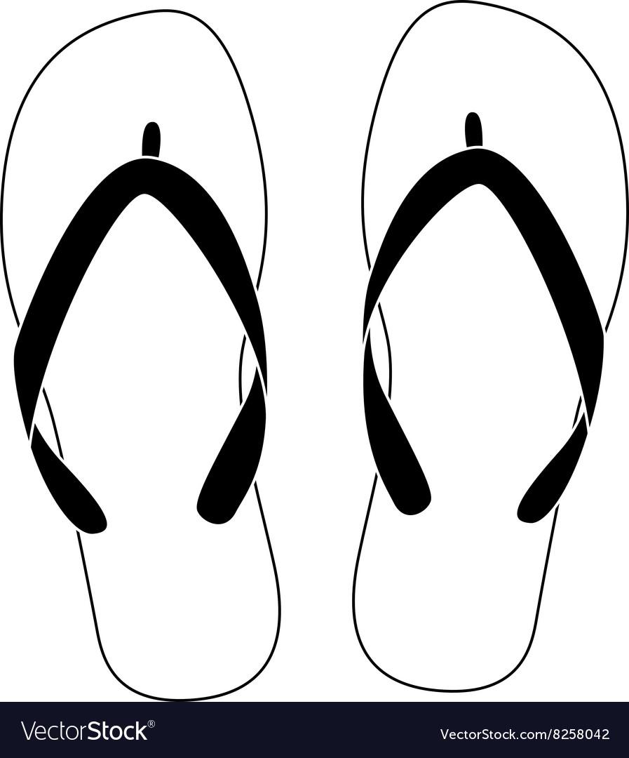 c3d7237c6 White flip flops Royalty Free Vector Image - VectorStock