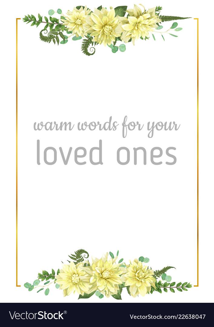 Flowers yellow dahlia fern eucalyptus