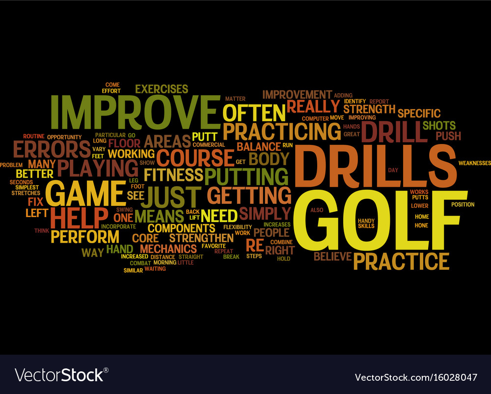Golf drills to improve your game text background