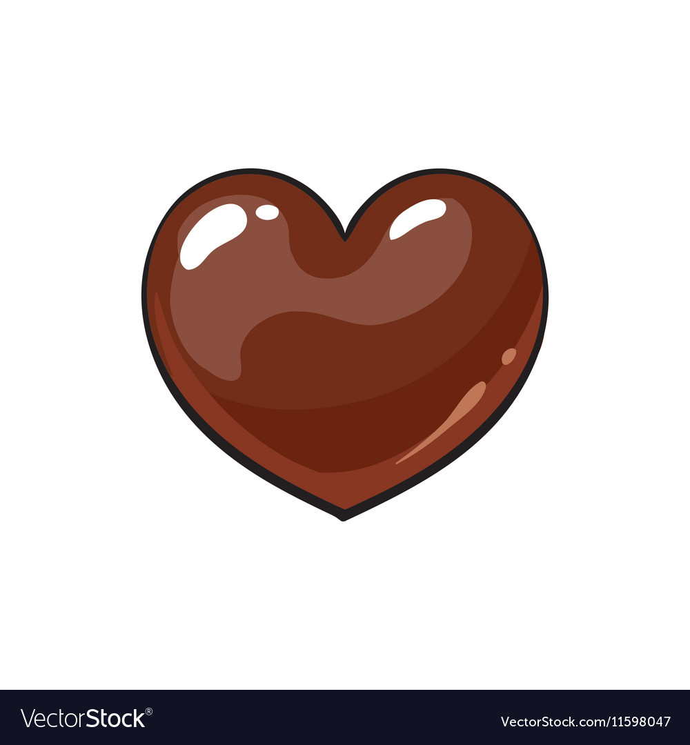 Heart shaped dark chocolate candy