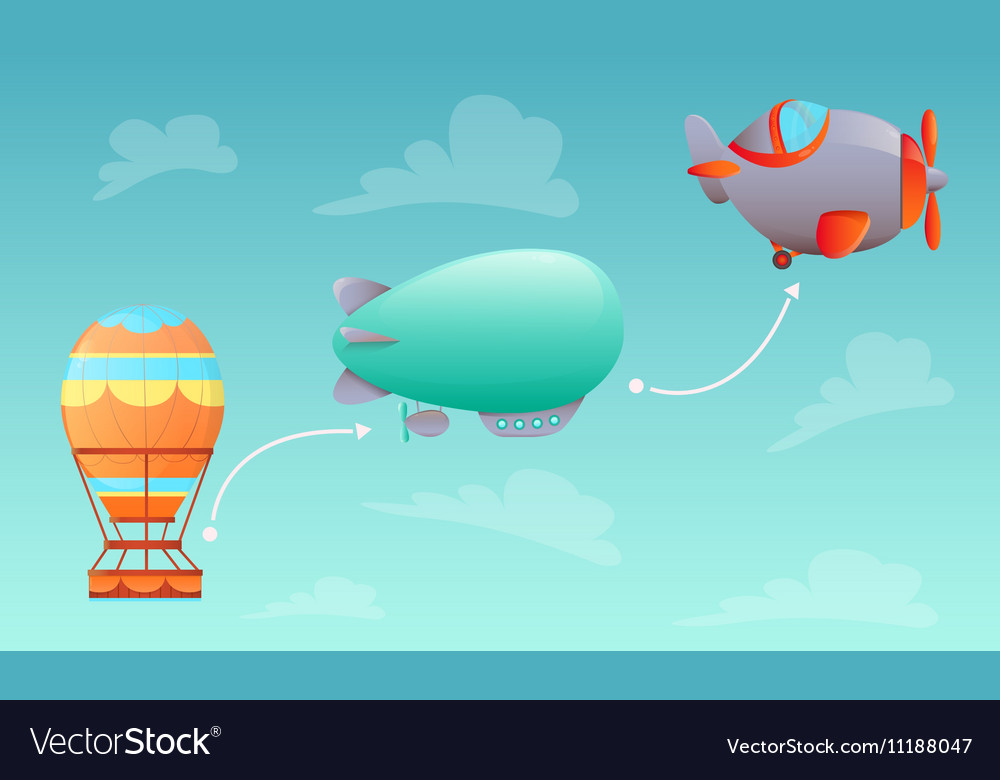 History of Aviation vector image