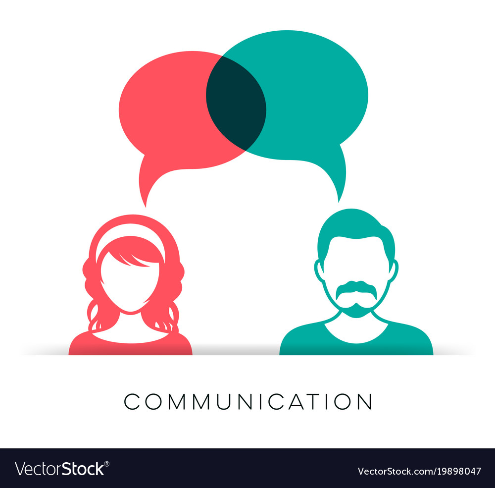 Man and woman communication icon Royalty Free Vector Image