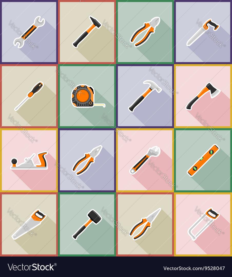 Repair tools flat icons 18
