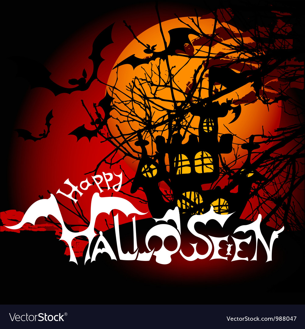 scary halloween background royalty free vector image