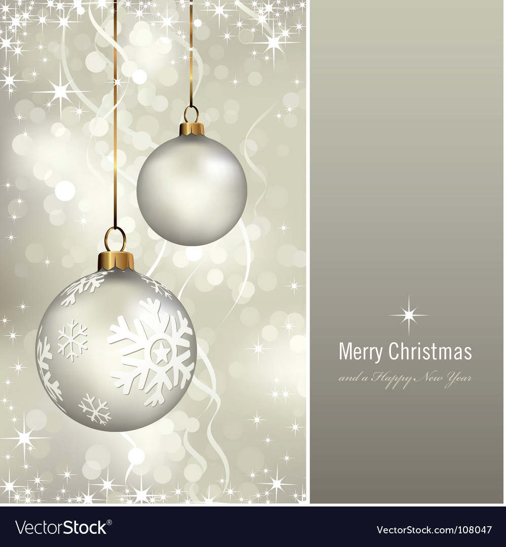 White Christmas vector image