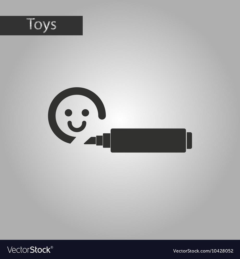 Black and white style toy felt-tip marker