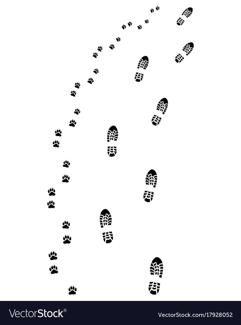 Footprints turn right
