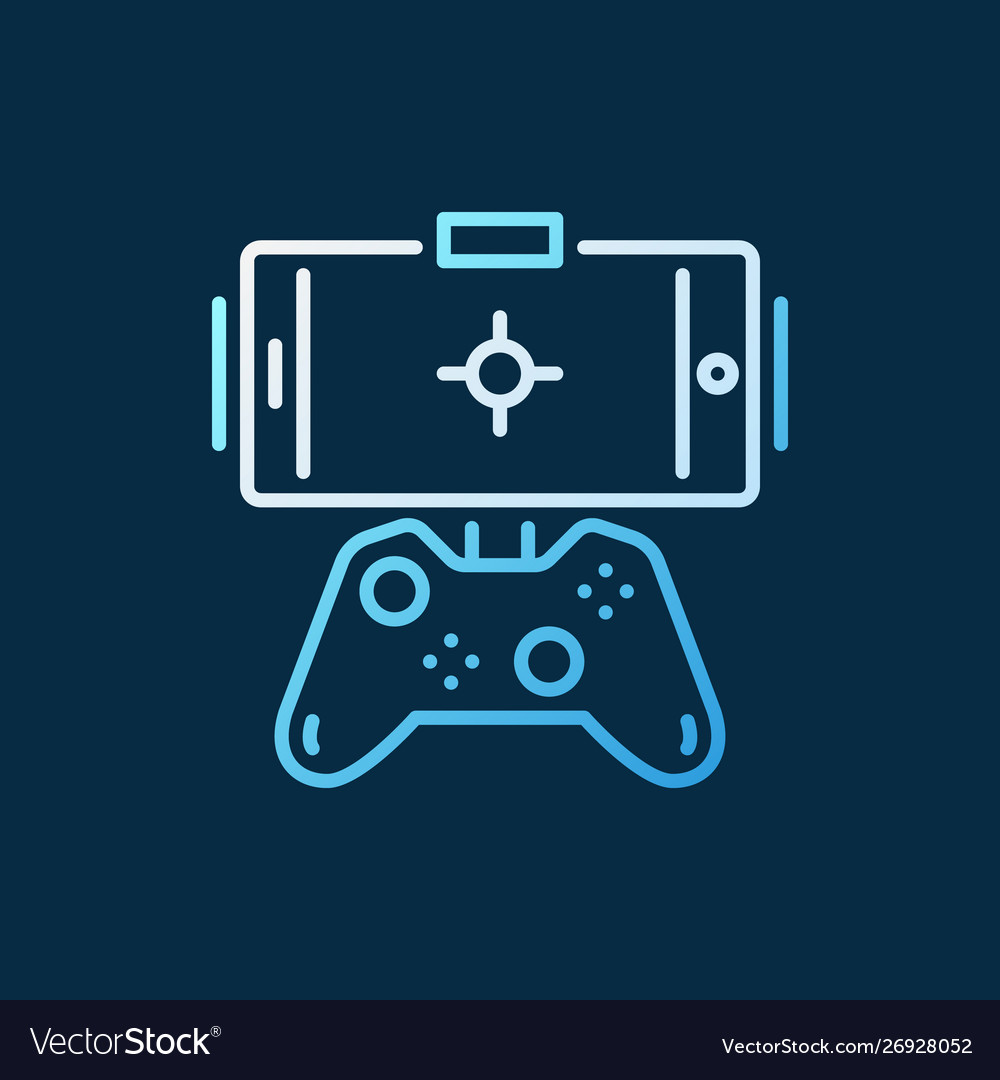Gamepad with phone concept colored outline