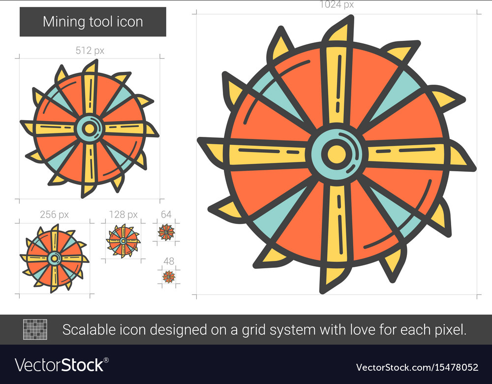 Mining tool line icon vector image