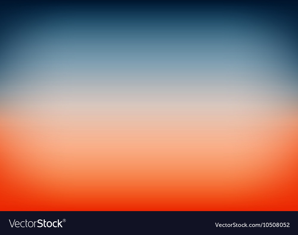 Sunset Sky Blue Orange Gradient Background Vector Image