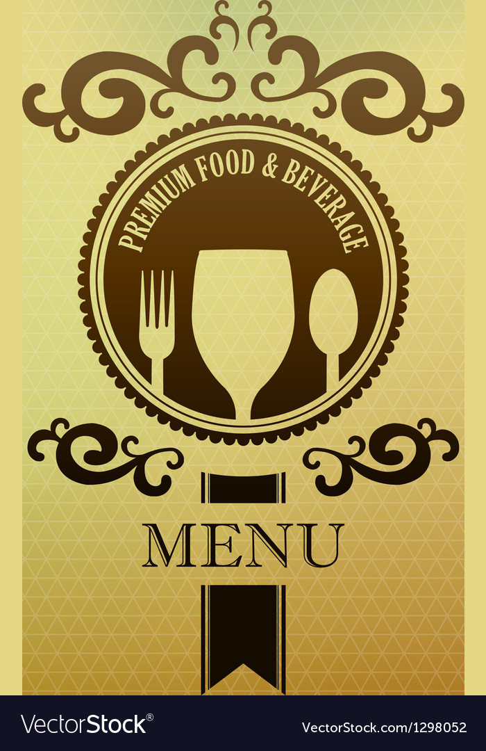 Vintage label menu food and beverage cover