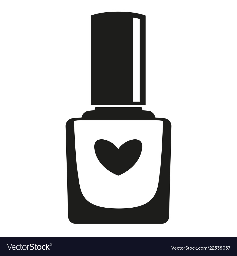 Black and white nail polish bottle silhouette Vector Image